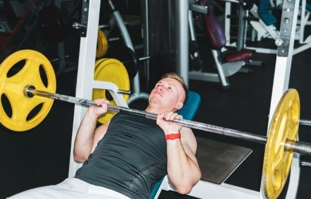 Barbell Bench Press canva | Barbell Bench Press | Build Your Own Workout Calendar Using These 5 Science-Backed Exercises