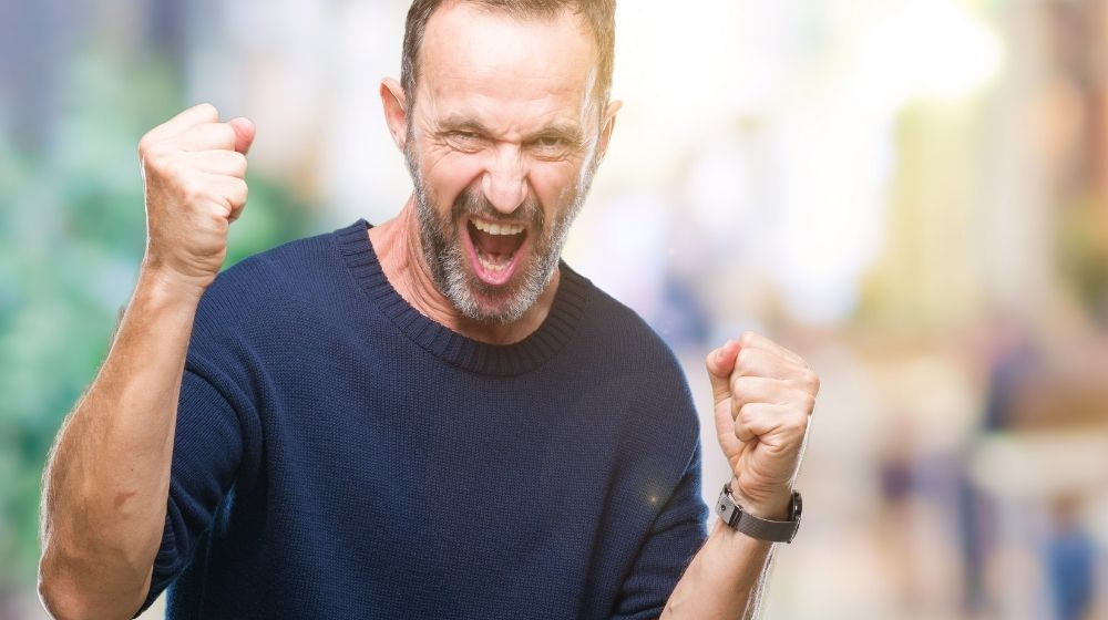 Middle age hoary senior man over isolated background very happy and excited | Feature | Live Like a Rock Star (and Still Be Healthy)
