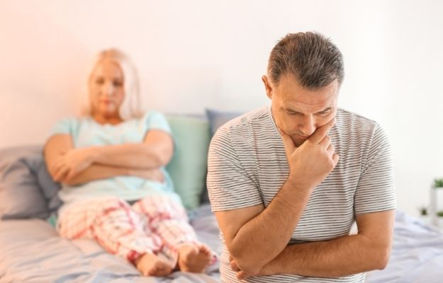 Senior couple with problem in relationship on bed | Performance Anxiety: An Overview | Performance Anxiety ED: How to Overcome Fear Of Sex