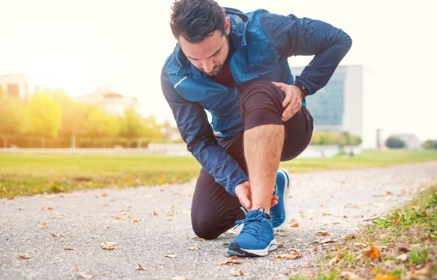 Sportsman suffering for ankle pain during training session | Bone Density and Muscles | Maintain Your Physical Vitality with These 5 Life Hacks