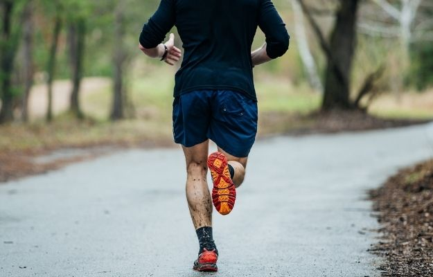 a man is having a running at park | Cardio and Strength Training | How to Decompress After a Long Day