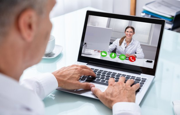 a man video call with doctor telemedicine telehealth - ss | What is Telehealth? And What Are The Benefits | Health Care for Men Through Telehealth