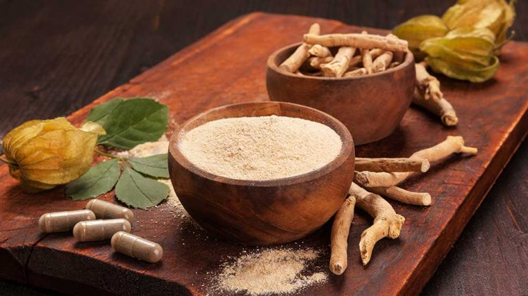 Roots-and-powder-of-Ashwagandha | feature | 5 Natural PDE5 Inhibitors for ED