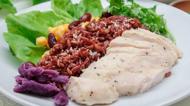 Post-workout Nutrition: What Should I Eat After Exercise? | brown-rice-with-chicken-breast-meal-ss | Some Suggestions for Post-Workout Nutrition Meals