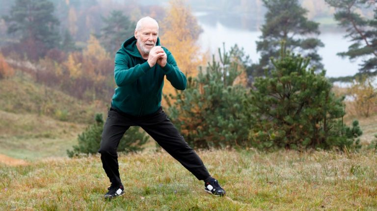 healthy-mature-man-exercising-side-lunges-outdoor-mountain-during-winter | Feature | 5 Foods to Increase Stamina
