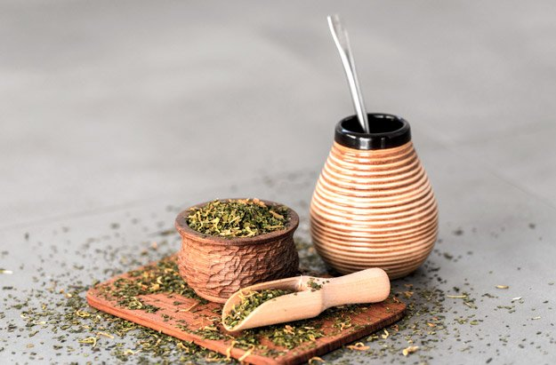 yerba-mate-drink-and-powder-on-small-wooden-plate   5 Foods to Increase Stamina