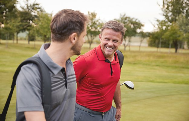 A caucasian middle age man playing golf   Can You Slow Down Aging by Taking Human Growth Hormone?
