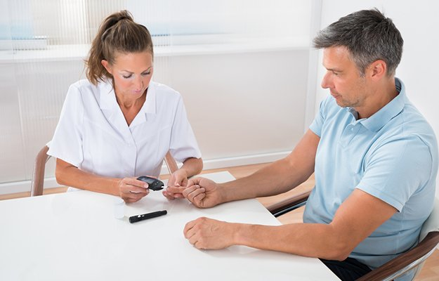 Female-Doctor-Checking-Blood-Sugar-Level-Of-Patient-In-Hospital-ss-body | 9 Preventive Health Screening Tests For Men