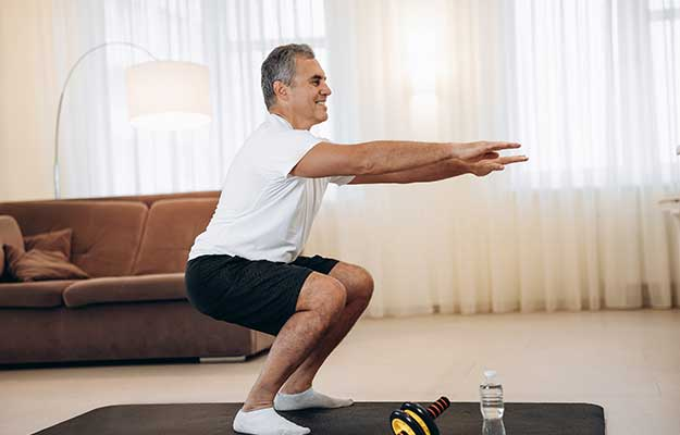 Workout-time-Strong-senior-man | Why NAD+ Levels Decline as You Age and How to Restore It