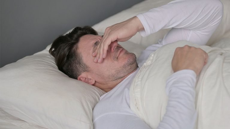 Upset-Middle-Aged-Man-Crying-in-Bed-Are-You-At-Ris…ause-Tell-Tale-Signs-Of-Male-Menopause | -feature | Are You At Risk Of Andropause? Tell-Tale Signs Of Male Menopause
